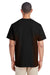 Gildan H300 Mens Hammer Short Sleeve Crewneck T-Shirt w/ Pocket Black Back