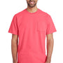Gildan Mens Hammer Short Sleeve Crewneck T-Shirt w/ Pocket - Coral Silk