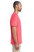 Gildan H300 Mens Hammer Short Sleeve Crewneck T-Shirt w/ Pocket Coral Silk Pink Side