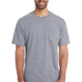 Gildan Mens Hammer Short Sleeve Crewneck T-Shirt w/ Pocket - Sport Grey