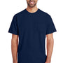 Gildan Mens Hammer Short Sleeve Crewneck T-Shirt w/ Pocket - Sport Dark Navy Blue