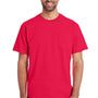Gildan Mens Hammer Short Sleeve Crewneck T-Shirt w/ Pocket - Sport Scarlet Red