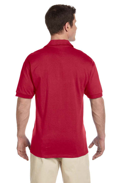 Jerzees J100 Mens Short Sleeve Polo Shirt Red Back