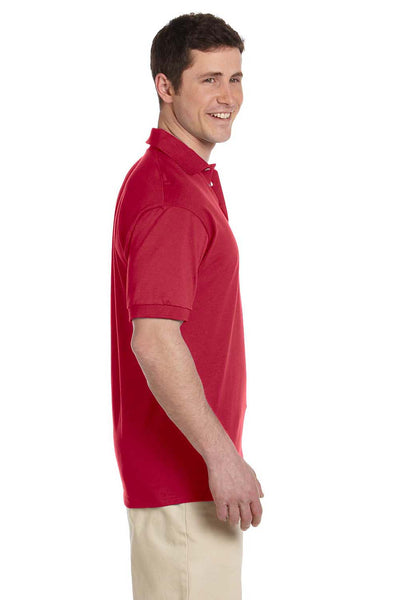 Jerzees J100 Mens Short Sleeve Polo Shirt Red Side