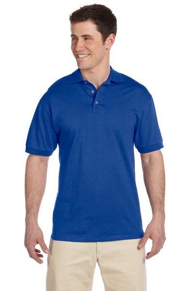 Jerzees J100 Mens Short Sleeve Polo Shirt Royal Blue Front