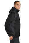 Port Authority J310 Mens Ranger 3-in-1 Waterproof Full Zip Hooded Jacket Black/Ink Grey Side