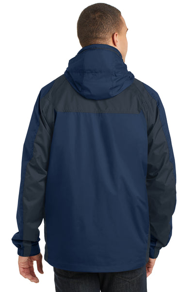 Port Authority J310 Mens Ranger 3-in-1 Waterproof Full Zip Hooded Jacket Insignia Blue/Navy Blue Back