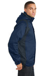 Port Authority J310 Mens Ranger 3-in-1 Waterproof Full Zip Hooded Jacket Insignia Blue/Navy Blue Side