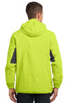 Port Authority J322 Mens Cascade Waterproof Full Zip Hooded Jacket Charge Green/Grey Back