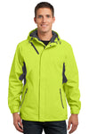 Port Authority J322 Mens Cascade Waterproof Full Zip Hooded Jacket Charge Green/Grey Front