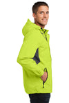 Port Authority J322 Mens Cascade Waterproof Full Zip Hooded Jacket Charge Green/Grey Side