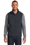 Port Authority J325 Mens Core Wind & Water Resistant Full Zip Vest Battleship Grey Front