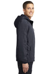 Port Authority J327 Mens Charger Wind & Water Resistant Full Zip Hooded Jacket Battleship Grey Side