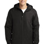 Port Authority Mens Charger Wind & Water Resistant Full Zip Hooded Jacket - True Black