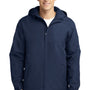 Port Authority Mens Charger Wind & Water Resistant Full Zip Hooded Jacket - True Navy Blue