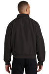 Port Authority J328 Mens Charger Wind & Water Resistant Full Zip Jacket Black Back