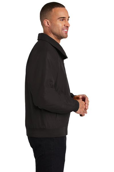 Port Authority J328 Mens Charger Wind & Water Resistant Full Zip Jacket Black Side