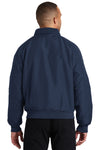 Port Authority J328 Mens Charger Wind & Water Resistant Full Zip Jacket Navy Blue Back