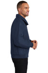 Port Authority J328 Mens Charger Wind & Water Resistant Full Zip Jacket Navy Blue Side