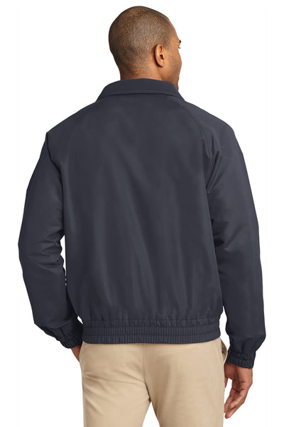 Port Authority J329 Mens Charger Wind & Water Resistant Full Zip Jacket Battleship Grey Back
