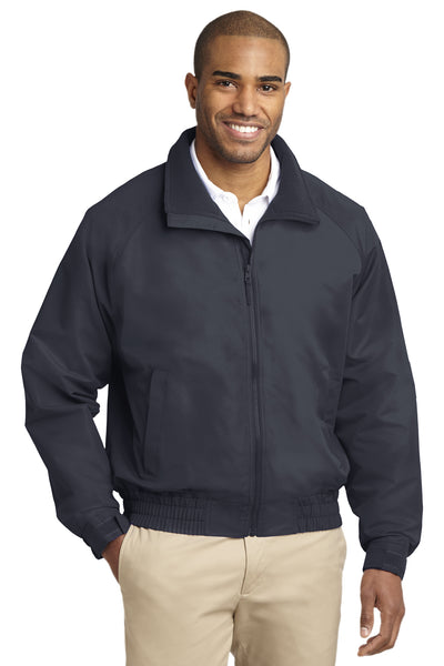 Port Authority J329 Mens Charger Wind & Water Resistant Full Zip Jacket Battleship Grey Front