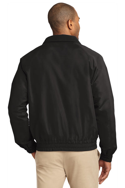 Port Authority J329 Mens Charger Wind & Water Resistant Full Zip Jacket Black Back