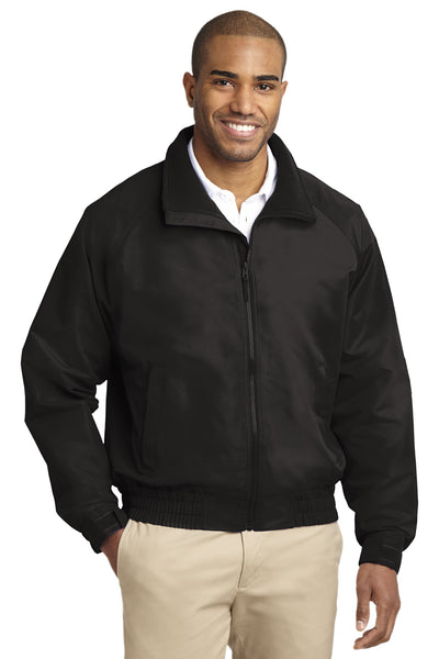 Port Authority J329 Mens Charger Wind & Water Resistant Full Zip Jacket Black Front