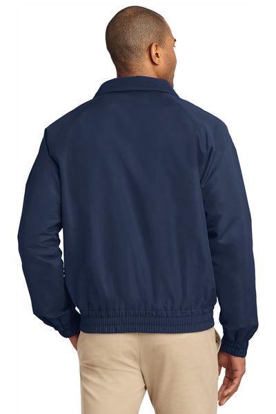 Port Authority J329 Mens Charger Wind & Water Resistant Full Zip Jacket Navy Blue Back