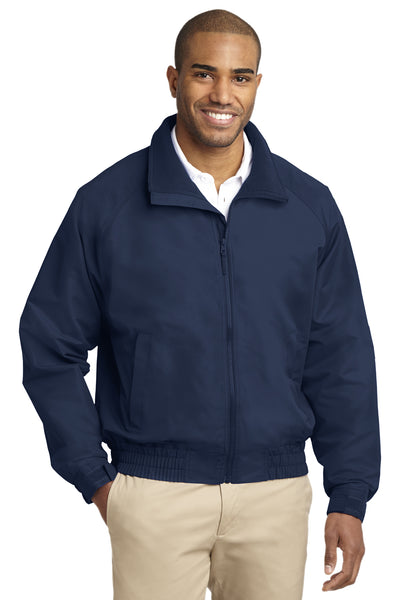 Port Authority J329 Mens Charger Wind & Water Resistant Full Zip Jacket Navy Blue Front