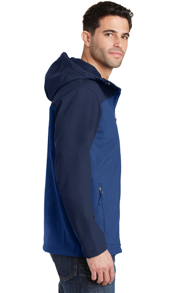Port Authority J335 Mens Core Wind & Water Resistant Full Zip Hooded Jacket Royal Blue/Navy Blue Side