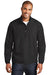 Port Authority J343 Mens Zephyr Wind & Water Resistant 1/4 Zip Jacket Black Front