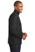 Port Authority J343 Mens Zephyr Wind & Water Resistant 1/4 Zip Jacket Black Side