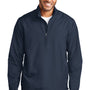 Port Authority Mens Zephyr Wind & Water Resistant 1/4 Zip Jacket - Dress Navy Blue