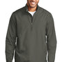 Port Authority Mens Zephyr Wind & Water Resistant 1/4 Zip Jacket - Steel Grey