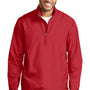 Port Authority Mens Zephyr Wind & Water Resistant 1/4 Zip Jacket - Rich Red