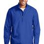 Port Authority Mens Zephyr Wind & Water Resistant 1/4 Zip Jacket - True Royal Blue