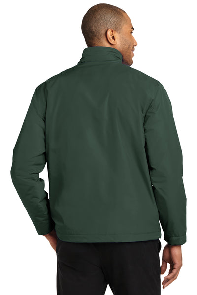 Port Authority J354 Mens Challenger II Wind & Water Resistant Full Zip Jacket Forest Green Back