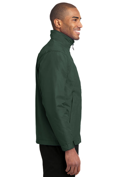 Port Authority J354 Mens Challenger II Wind & Water Resistant Full Zip Jacket Forest Green Side