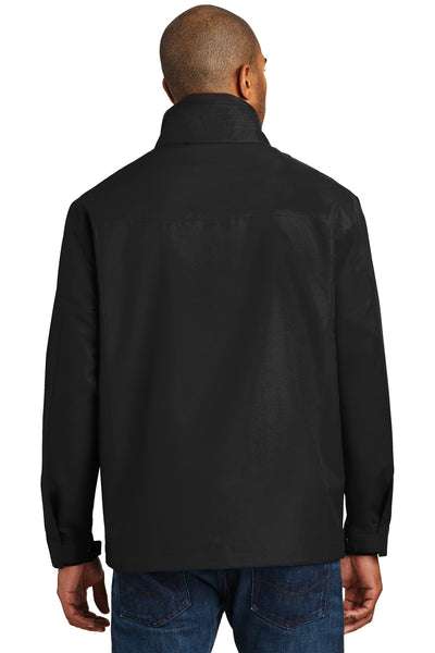 Port Authority J701 Mens Successor Wind & Water Resistant Full Zip Jacket Black Back