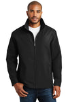 Port Authority J701 Mens Successor Wind & Water Resistant Full Zip Jacket Black Front