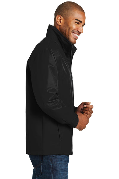 Port Authority J701 Mens Successor Wind & Water Resistant Full Zip Jacket Black Side