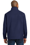 Port Authority J701 Mens Successor Wind & Water Resistant Full Zip Jacket Navy Blue Back