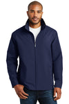 Port Authority J701 Mens Successor Wind & Water Resistant Full Zip Jacket Navy Blue Front