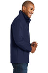 Port Authority J701 Mens Successor Wind & Water Resistant Full Zip Jacket Navy Blue Side