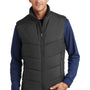Port Authority Mens Wind & Water Resistant Full Zip Puffy Vest - Black