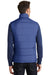Port Authority J709 Mens Wind & Water Resistant Full Zip Puffy Vest Mediterranean Blue Back