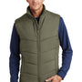 Port Authority Mens Wind & Water Resistant Full Zip Puffy Vest - Olive Green