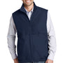 Port Authority Mens Charger Reversible Wind & Water Resistant Full Zip Vest - True Navy Blue