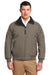 Port Authority J754 Mens Challenger Wind & Water Resistant Full Zip Jacket Khaki Brown Front