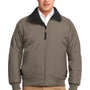 Port Authority Mens Challenger Wind & Water Resistant Full Zip Jacket - Khaki/True Black